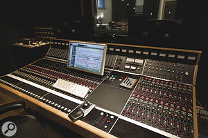 The centrepiece of Soma Studios is this classic Trident A‑Range console.