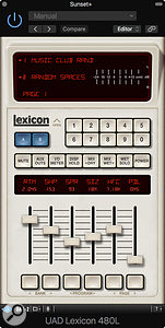 Universal Audio UAD 9.7 - Lexicon 480L plug-in.