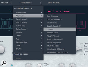 Sparkle's presets and the associated styles cover a broad range of musical genres.
