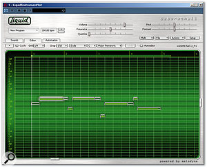 The Editor screen shows a clear Melodyne influence.