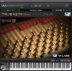 True Keys Pianos' 'Italian piano' is a10-foot Fazioli F308 grand, thought by many to be the best piano in the world.