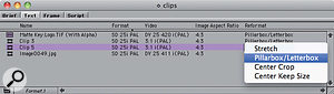 A new setting allows you to tell Media Composer, on aclip-by-clip basis, how to reformat footage that has adifferent aspect ratio to that of the sequence.