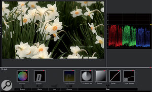 Magic Bullet Looks is apowerful piece of grading software, allowing far more options than simple colour correction. Note the flow of effects from Subject to Post.
