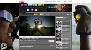 After he placed free, weekly 'webisodes' online and promoted via social networks and blogs, Robin's Super Massive Raver became a YouTube partner page, allowing the kind of decoration you see here.