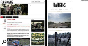 British Indie band Flashguns use social media well, with a WordPress web site and a Tumblr blog for posting inspiration and tour photos.
