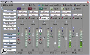 The audio mixer in Vegas Pro is much more comprehensive than that of most NLEs, and now includes up to 26 input buses.