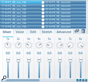The Vienna Instrument Pro player has 16 sound slots, and is therefore recommended for use with Dimension Violins.