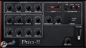 The Preset page gives you simple filter and ADSR controls over the preset patch.