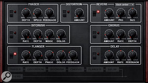Pro II's Effects page.