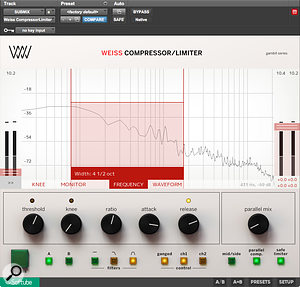 The alternative user interface is particularly valuable as away of configuring the Weiss compressor algorithms.