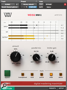 The third of the 'spin-off' plug-ins is the MM‑1 mastering limiter.