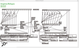 One of the MaxMSP objects created for 'Imaginary Dialogues'.