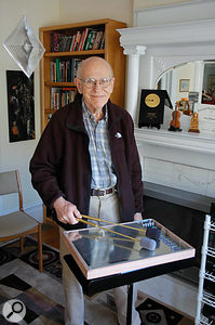 Max Matthews, 'father of computer music', with the Radio Baton.