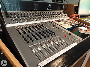 The Neotek Essence desk fitted John Wood's requirements for a mixer that was small and very clean-sounding.