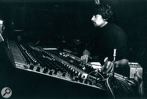 John Wood in the control room at Sound Techniques, 1974.