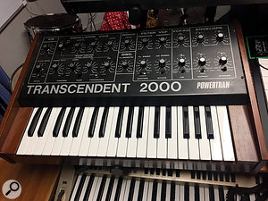 One of the key elements in Young Fathers' sound from early days has been the Powertran Transcendent 2000 kit synth.