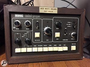 The group's Korg Mini Pops drum machine was the backbone of their early stand-out 'I Heard'.