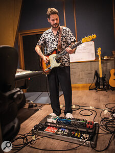 Guitarist Max Helyer spent considerable time experimenting with his guitar tone, making use of plug‑ins in addition to his usual pedalboard.