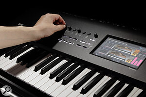 Korg Nautilus touchscreen & rotary encoders