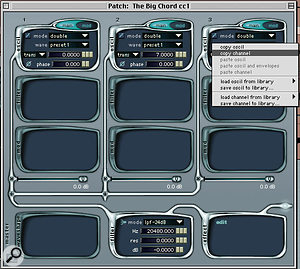 Copying and pasting of patch elements between patches is now featured in Absynth 2.