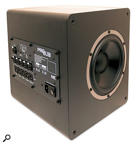 The Pro Sub subwoofer, which can be used with AE's other satellite speakers.