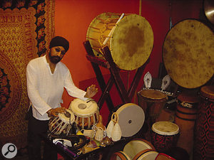 Johnny Kalsi, playing the tabla.