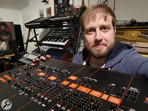Alex Ball with his beloved ARP
