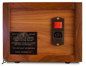 The review unit was supplied in one of Analogue Systems' stand-alone wooden cases, with its own power socket. Of course, if you're wiring the module into an existing modular system, a version without the case and power supply is also available.