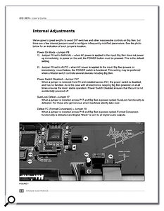 The user manual for the Big Ben shows a number of internal jumper selections which can be made to customise the operation of the unit.
