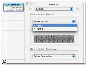 Quartz Composer: make sure you have the right MIDI ports enabled to receive MIDI from the Settings page of the Inspector for the MIDI Controllers node.