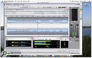 Here you can see Wavelab running on an Intel Mac under Parallels Workstation (beta version 3). Virtualisation software is going to make it much easier to run Windows-only tools like Wavelab alongside Mac-based audio and music production software.