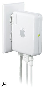 Not to be confused with an air freshener, this is what Apple's Airport Express looks like — at least, if you live in America.