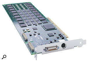 Digidesign will support Apple's move to PCI Express slots by offering PCI Express versions of their Core and Accel cards (the original PCI Accel card is pictured here), plus a new expansion chassis.