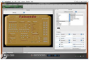 Audio Units support allows extra software instruments and effects to be added.