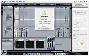 Here you can see Live 5.2 running natively on an Intel iMac and hosting some example VST plug-ins that I compiled for Intel systems, using the Xcode development environment.