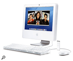 Launched at the Macworld show back in January 2006, the iMac and the Mac Book Pro (below) are the first Apple Mac products, both featuring a Core Duo chip, to use Intel processors.
