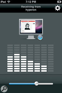 AirFoil Speakers Touch, an iPhone app that streams music content from your Mac to your iPhone or iPod Touch side panel.