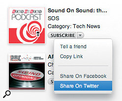 In iTunes 9 you can tell people about your favourite podcast or album.