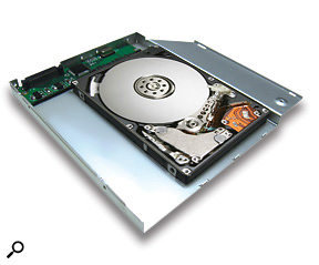 The OptiBay system lets you replace the optical drive in your MacBook or MacBook Pro with a hard drive.