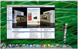 While the new 3D appearance of the Dock and the semi-transparent menu bar might not initially seem exciting, there are plenty of features under the bonnet in Mac OS X Leopard, such as 64-bit support and improved technology for taking advantage of multiple processing cores.