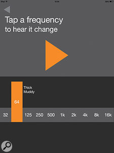 Hearing Techniques HearEQ app screen.