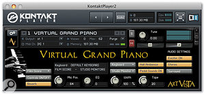 Virtual Grand Piano presents a 1960s Steinway model B in a variety of guises — all of them accessed via this simple Native Instruments' Kontakt Player software interface. Yet despite its straightforward appearance, there's plenty of versatility on offer.