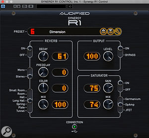 The plug-in control software gives you direct access to every function on the hardware, as well as access to many more presets.