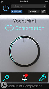 Audified VocalMint Compressor plug-in.