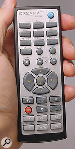 The supplied RM1500 remote control.