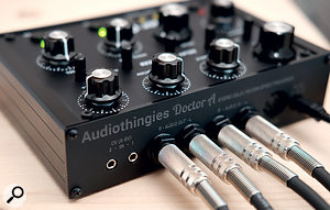 The rear panel sports dual CV inputs as well as a MIDI DIN input.