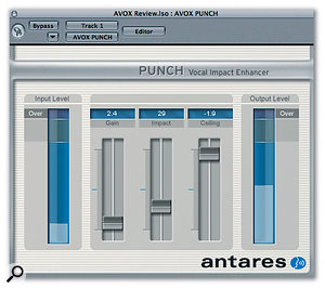 Punch has both mono and stereo versions and is certainly successful in creating that solid, up-front vocal sound without having to juggle a host of parameters.