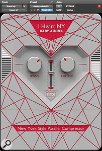 Baby Audio I Heart NY Parallel Compressor plug-in.