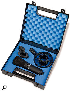 The MC840 comes complete with its own shockmount, in a sturdy but lightweight plastic carry case.