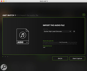 Positive Grid's Amp Match technology can now be used with a20‑second (plus), pre‑recorded audio file.